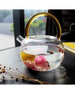 Artisan Hand Blown Glass Teapot
